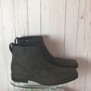 Rock port Brown Leather Zip Boots Size 10